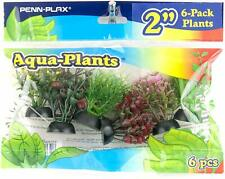 "PENN PLAX PLANT 6 PACK MINI 2"" RED & GREEN ORNAMENT DECORATION. IN USA"
