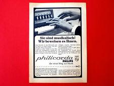 1967 Werbung aus Zeitschrift  Musikinstrument PHILIPS PHILICORDA