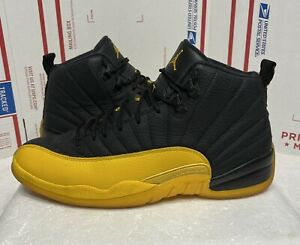 Nike Air Jordan 12 Retro University Gold 2020 Size 11.5 130690-070 Black Yellow