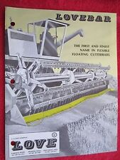 1976 LOVEBAR COMBINE HEADER FLOATING CUTTERBARS BROCHURE