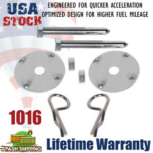 """A Pair Universal Steel Hood Pin Clip Kit Hair-Pin Style chrome plated 4"""" long"""