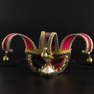 Half Face Venetian Joker Masquerade Mask Mardi Gras Fancy Dress Party Cosplay