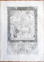 ✅Stampa incisione 1850-Sotterramento della Vergine, pittura Rutenica-Tav.LXXXIII