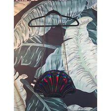 Dolls Kill Iron Fist Handbag Purse Bag Oil Slick Mermaid Shell Bone Gothic Pinup