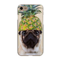 Pineapple Fruit Hat Pug Flowers Soft TPU Case Cover For iphone 6S 7 8 Plus X S9