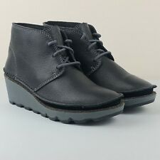 CLARKS DAMARA IVY Black Leather Desert Boots UK 4.5 D | EUR 37.5 | US 7 M