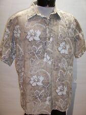 KAHALA XL X-Large leaf/Floral Hawaii Button-up shirt Combine ship Discounts