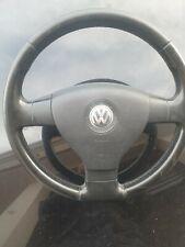 Volante Sterzo In Pelle VW  passat Golf Buone Condizioni con airbag