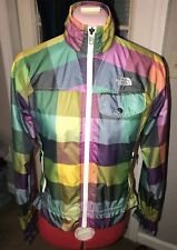 North Face All Weather Rain Snow rainbow plaid  jacket reptile texture XS RARE!