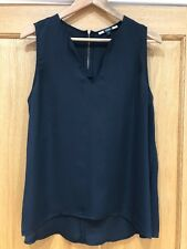 Ladiew S/Less V-neck Black Silky Top From Next Size 18