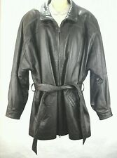 WILSONS LEATHER Coat Jacket Belted Dark Brown Thinsulate Women's L Fits XL $400