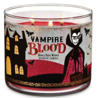 *New* HALLOWEEN*  VAMPIRE BLOOD ~ 3-wick Candle~ Bath & Body Works ~Ships Free!