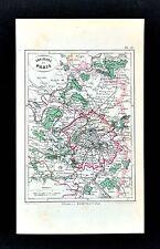 1877 Dumas-Vorzet Map - Paris Plan & Environs - St. Denis Versailles Argenteuil