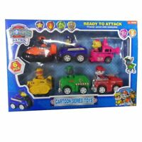 6 PCS Racer Car Paw Patrol Dog Marshall Rubble Rocky Chase Skye Kids Toys Gifts