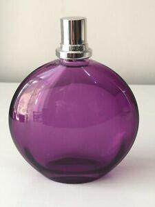 LAMPE BERGER PARIS PURPLE GLASS BOTTLE FRAGRANCE BURNER/ DIFFUSER USED EMPTY