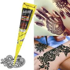 Natural Herbal Henna Cones Temporary Tattoo kit Black Body Art Paint Blacki Ink