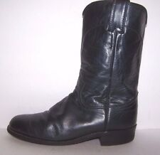 """JUSTIN Western Roper Boots Womens Size 6 Blue Leather 12"""" Shaft"""