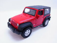 51236 | Welly Jeep Wrangler Rubicon Typ JK Hardtop rot Modellauto 1:40 NEU