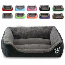 S-XXL Pet Dog Cat Bed Mat Puppy Cushion Soft Warm House Kennel Washable UK
