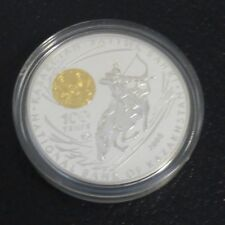 KAZAKHSTAN 100 Tenge 2008 - Chingiz Khan - Silver 925 PROOF  Gilded (31 g)