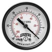 WINTERS PEM1428LF Gauge,Pressure,2in.,30in. Hg Vac to 0