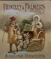 Vintage Collectible Huntley & Palmers English Biscuits Tin Reading London