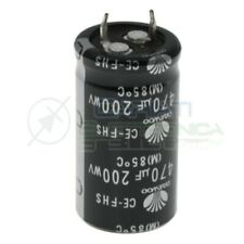 Condensatore elettrolitico Daewoo Snap-in 470 uF 470uF 200V 85°C 22x40mm