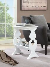 Magazine Small Rack Table End Accent Wood Side Sofa White Chairside Couch Narrow