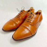 Davanzati Brown Lace Up Italy Dress Oxfords Men's US 14.5 Handmade Rare