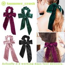 Velvet Scrunchies Hair Bow Elastic Ropes Girls Hair Ties Ribbon Ponytail Holder