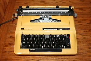Smith Corona Sterling Automatic 12 Touch Electronic Typewriter YELLOW Vintage