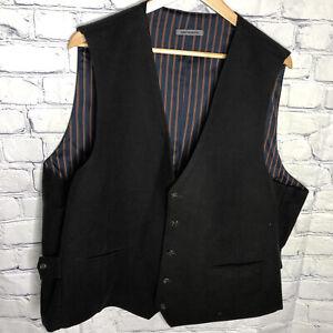Johnston & Murphy Men's Brown Waistcoat Suit Vest Pockets Size XXL