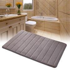 Memory Foam Bath Mat Absorbent Slip-resistant Pad Bathroom Kitchen Mats Gray WT