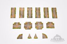 "Wargaming Scenery - GRAVEL ROAD Set -  14 pieces - 72"" -28mm painted Bolt Action"