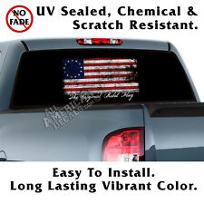 Original CF Flag Betsy Ross Back Window Graphics Perforated Window Film Decal