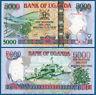 UGANDA  5000 Shillings 2009  UNC  P. 44 d