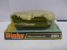 dinky 281 military hovercraft boxed vintage 1973
