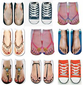 Socks, Flip Flop Sandal socks, Unisex 3D Novelty