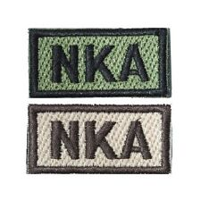 NKA No Known Allergies Self-Adhesive Blood Patch in Olive and Tan 1x2in