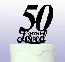 Beautiful 50th Cake Topper 50 years
