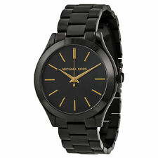 Michael Kors MK3221 Slim Runway Black Dial Black Unisex Wrist Watch FreeShipping