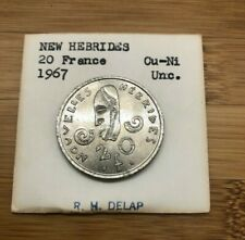 1967 20 NEW HEBRIDES FRANCS
