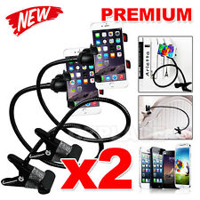 2x Car Holder Desktop Bed Universal Mobile Phone Mount for iPhone 5 6 6s 7 Plus
