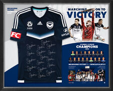 Melbourne Victory 2018 A-League Champions Official Signed Jersey Framed + COA