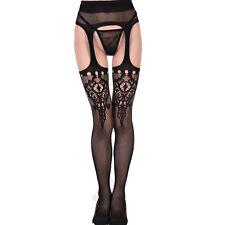 Sexy Mock Fake Suspender Garter Fishnet net Pantyhose Glamour Stockings Tights