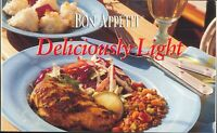 Bon Appétit Deliciously Light Cookbook 2001 Buffet Tips Game Hens Rissotto Cake
