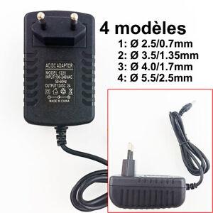 12V 2A 2000mA UE Plug Chargeur AC 100-240V À DC 12V 2A Adaptateur alimentation
