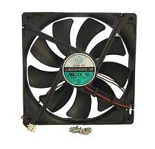140mm 25mm Case Fan 12V 153CFM IP55 Waterproof 2 Wire Cooling Ball B 14025 413*