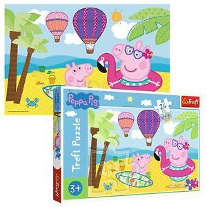 Trefl 24 Maxi Piece Kids Large Peppa Pig On Her Holiday Fun Jigsaw Puzzle NEW