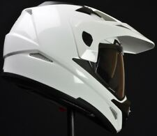 Vega Crosstour Dual Sport Helmet White Adult Sizes w/ Drop Down Visor